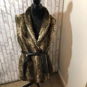 Liz Claiborne fix fur vest size 1x